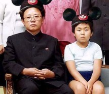 Kim Jong-Il with his oldest son Kim Jong-Nam (14k image)